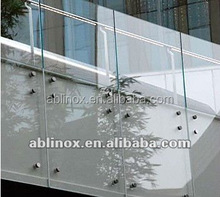 Stainless steel frameless glass balcony railing,glass balcony