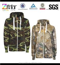 2015 Ladies New Camouflage Print Hoodie Sweats Hooded Zipped Top Coat Jacket