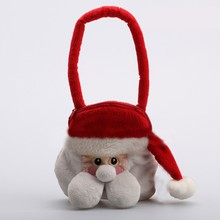 Plush Christmas candy bag xmas plush toys christmas gift bags