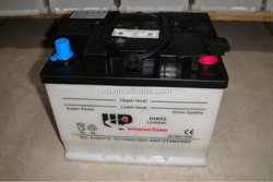 Dry Charged Car Battery N50L 12V55AH