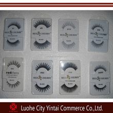High Quality 100% Hand-made Red Cherry Lashes Human Hair Eyelash Extension