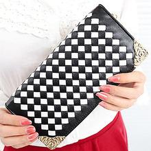W113 2014 best selling designer OEM/ODM weave zipper brand women wallet
