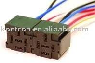 kontron 4/5 wire 30/40A automotive relay socket