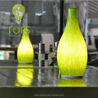 Energy Saving Modern style decorative round glass table lamp