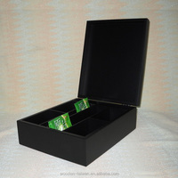 wooden tea box with customized logo, dimenstion, material,finish