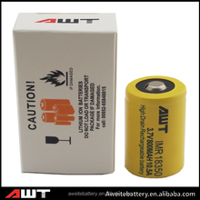 Rechargeable Li ion 1x18650 lithium rechargeable battery 18350 800mAh Battery