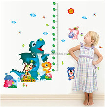 Kids Room Decorative Cartoon Dinosaur Park Height Chart wall sticker