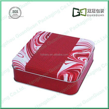 small metal square gift packing tin box