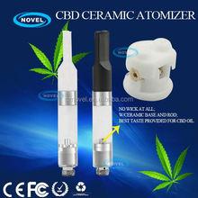 Slim 510 cbd disposable vape pen cartridge ceramic atomizer 3.7v lipo e-cigarette battery
