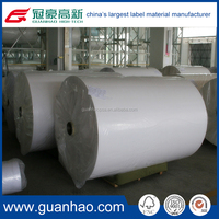 80gsm adhesive semi gloss printing label material ,blank die-cutting paper label in roll