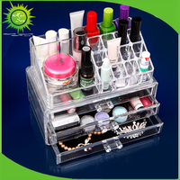 High Quality Clear Acrylic Cosmetic Display With Drawers