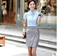 2014 Kroean New Summer Women Office Fashion Sets Shirt+Skirt