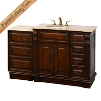 Hangzhou big size marble top antique bathroom vanity FED-1714