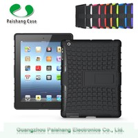 Dual Layer Slim Hybrid Case tablet cover 2 in 1 dual layer case with kickstand TPU PC for ipad 2 3 4