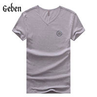 brand new t shirt for men camisetas masculinas summer style fitness casual tshirt short sleeved S-4XL 3 color V neck t 142039