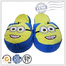 China animal plush slippers top 10 Sales promotion minion plush slippers, custom plush slippers, plush spider slippers