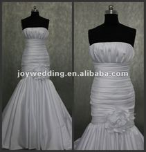 N040 Free shipping latest designer Real sample royal bridal wedding dress 2012