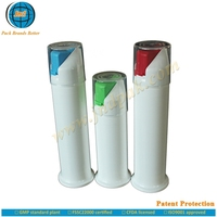 High level plastic vacuum toothpaste pump tube packaging by GMP standard plant with super offset printing and Patent Protection