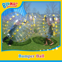 100% real material human sized soccer bubble ball/ bubble ball suit