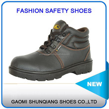 New fashion Leather Industrial Steel toe Safety Shoes