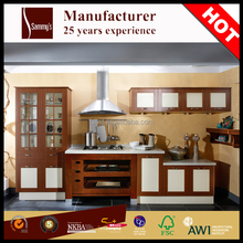 Guangdong wooden kithcen furniture kitchen pantry cupboards solid wood kitchen cabinet
