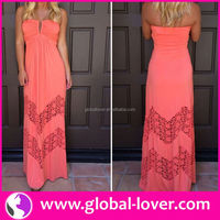 2015 hot selling tall tube women sexy hippie flowing maxi dress