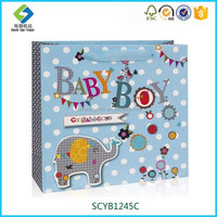 Factory Price Hot Sale Elephant Paper Gift Bag For Baby Boy