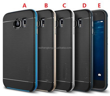 For Galaxy S6 Hybrid TPU Shell+PC Bumper Armor Defender Rubber shockproof Cute Phone Back Case Cover 2 in 1 For Samsung G9200