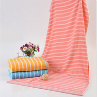China manufacturer red blue white striped towels for wholesales