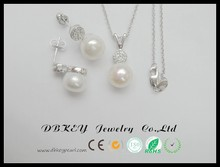 necklace setbeautiful crystal pearl setpearl necklace jewelry description