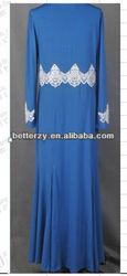 KJ-NDS3 2014 new designs lace dubai arabe abaya for summer
