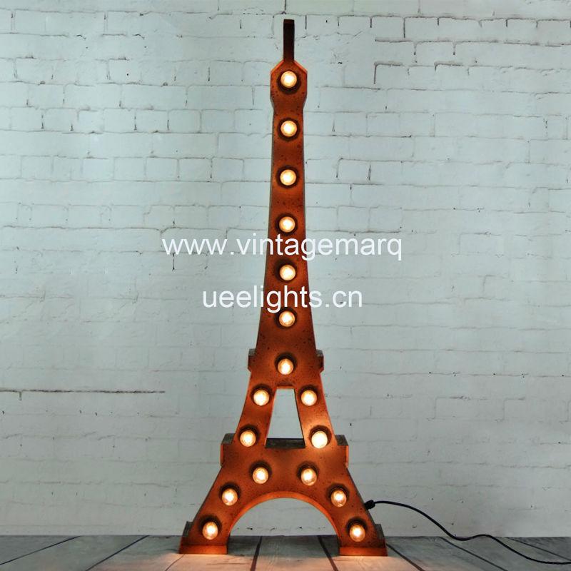 Eiffel Tower Marquee Light: Eiffel Tower Vintage Marquee Light