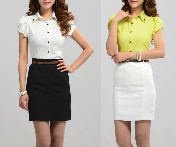 Skirt Blouse Designs - Peach Chevron Blouse