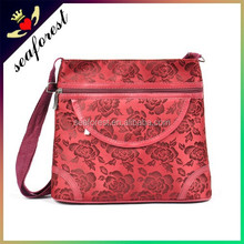 2014 Indian popular red flower small sling bags for women