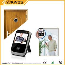 High clear image 3.5'' Peephole Digital Door Viewer with Door Eye Hole Camera 120degree Lens KDB307 KIVOS