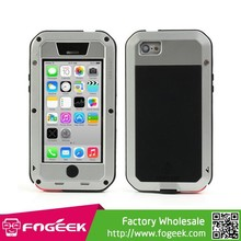 Love Mei High Quality Metal + Silicone Powerful Defender Rugged Case for iPhone 5c