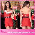 caliente de la venta al por mayor travieso nite niza vestido de navidad santa claus traje de las niñas