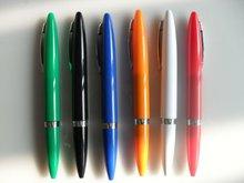 fancy shape plastic ballpoint pen with metal clip, cheap shinning color ballpen CH-6125 ,twist ball pen