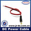 Evaluado lirong empresa color rojo jr-f163b cable dc cable de alimentación
