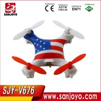 Wltoys V676 Incredible Nano-sized US Flag CF Mode 6-axis 2.4g 4ch R/C Quadcopter Drone