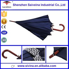 promotional 23 inches 8k wooden shaft and handle straight umbrella structure China factory