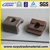 Railroad high tensile KPO rail clips to combine ribbed tie plate and T bolts