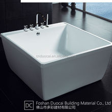 1200 MM Portable Acrylic Small Square Bathtub for Adults (CM-G821)