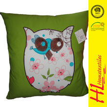 HLHT OKTEX 100 approved applique embroidery cushion sofa seat cushion
