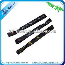 2014 NEWEST eye-catching Custom Satin golden foil printing ribbon wristband for wedding gift
