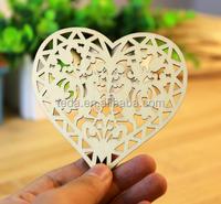 laser cut lace Wooden Ornaments Hearts