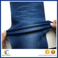 9OZ satin 160cm super stretch spandex denim fabric
