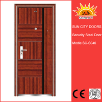 Reasonable price entrance security steel door SC-S046