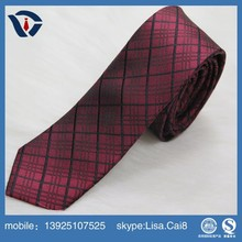 Wholesale Fashion Men Skinny Black Pink Two Sided Solid Silk Neck Tie