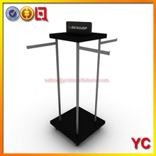 4 Way clothing rack for clothing store